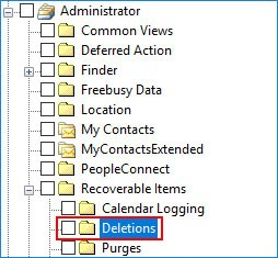 Extract the deleted items form Exchange EDB file