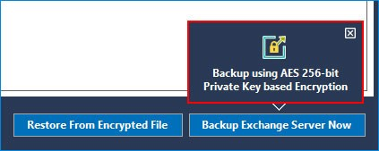 Backup using AES 256-bit Private Key based Encryption