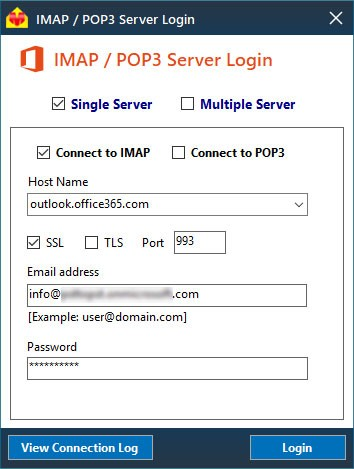 IMAP Connection settings