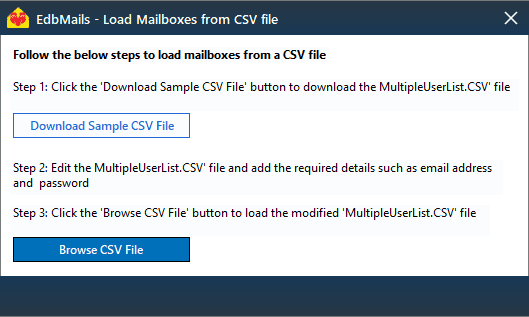 load mailboxes from csv file