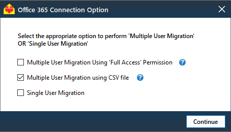 multiple migration using csv