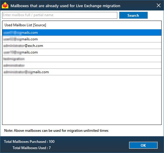 Exchange migration selected mailboxes