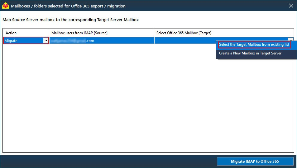 Migrate IMAP to Office 365