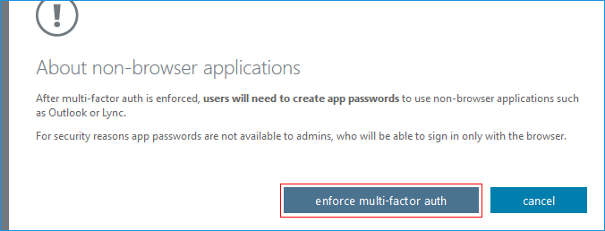 enforce multi-factor auth