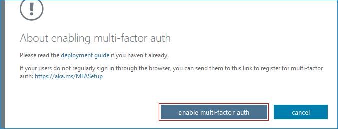 Disable multi-factor authentication?