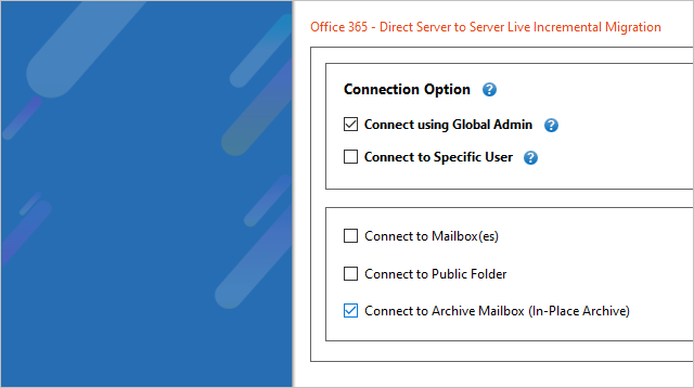 Office 365 Archive Mailbox to Office 365 Migration