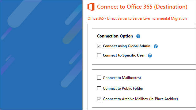 Exchange Archive Mailbox to Office 365 Migration