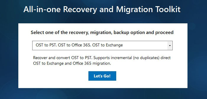 Choose OST Recovery