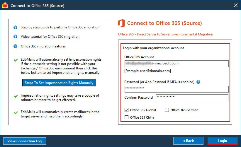 Login to Source Office 365