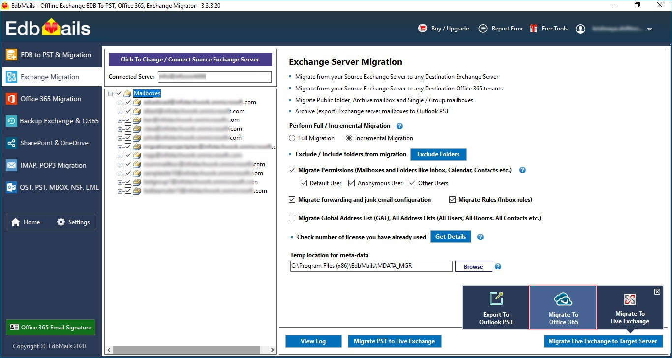 Migrate to Destination Office 365