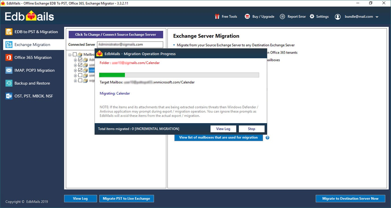 Migrate Live Exchange to Office 365