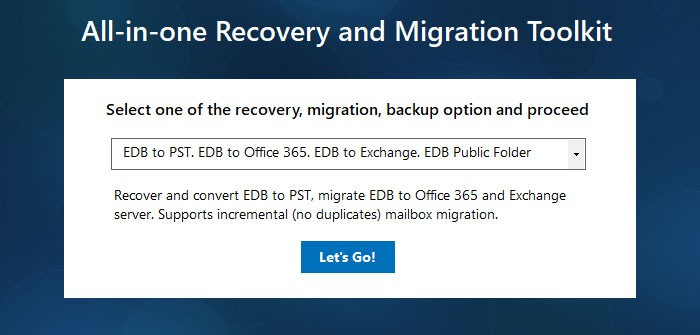 Recover Exchange server using Exchange EDB recovery freeware